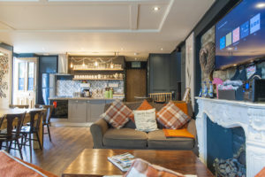 Kitchen, Living Room, Dinging area, - the heart of the house at Leeson Ln - My Dublin Vacation