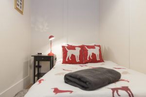 cozy single for your teen when staying at Leeson Lane boutique townhouse in Dublin