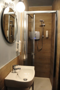 Luxury shower at Talbot Coach House - power shower. None of that wimpy Euro shower, this shower will get you clean, feel great and make you want to stay in Dublin at the Talbot Coach House for a long time.