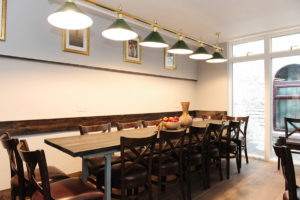 Cozy dining for 16 in Dublin at the Talbot Coach House by My Dublin Vacation