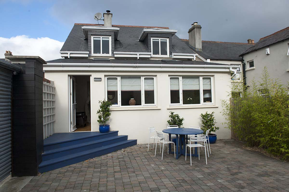 Enjoy a cup of tea or coffee on the garden patio when you visit My Dublin Vacation's Charming Townhouse