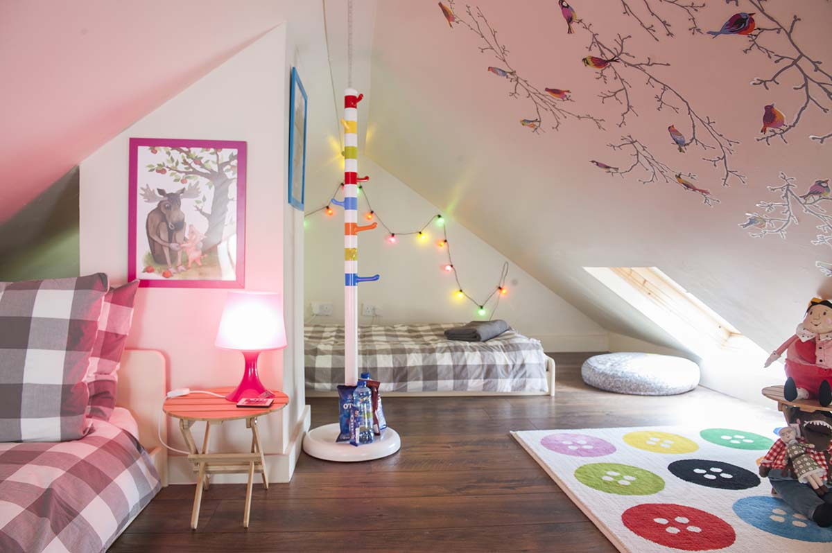 This loft room is perfect for you children to escape into a book during their Dublin Vacation.