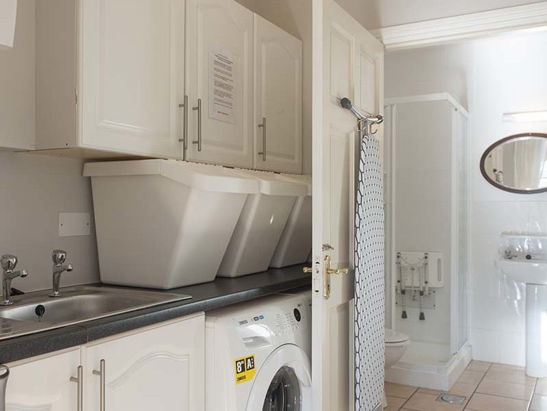 Charming Townhouse Washing Machine Mudroom
