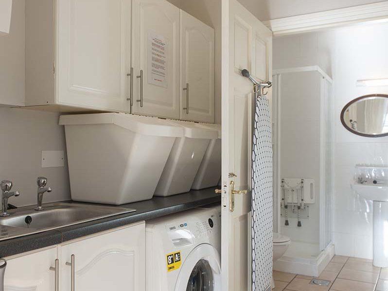 Charming Townhouse Washing Machine Mudroom